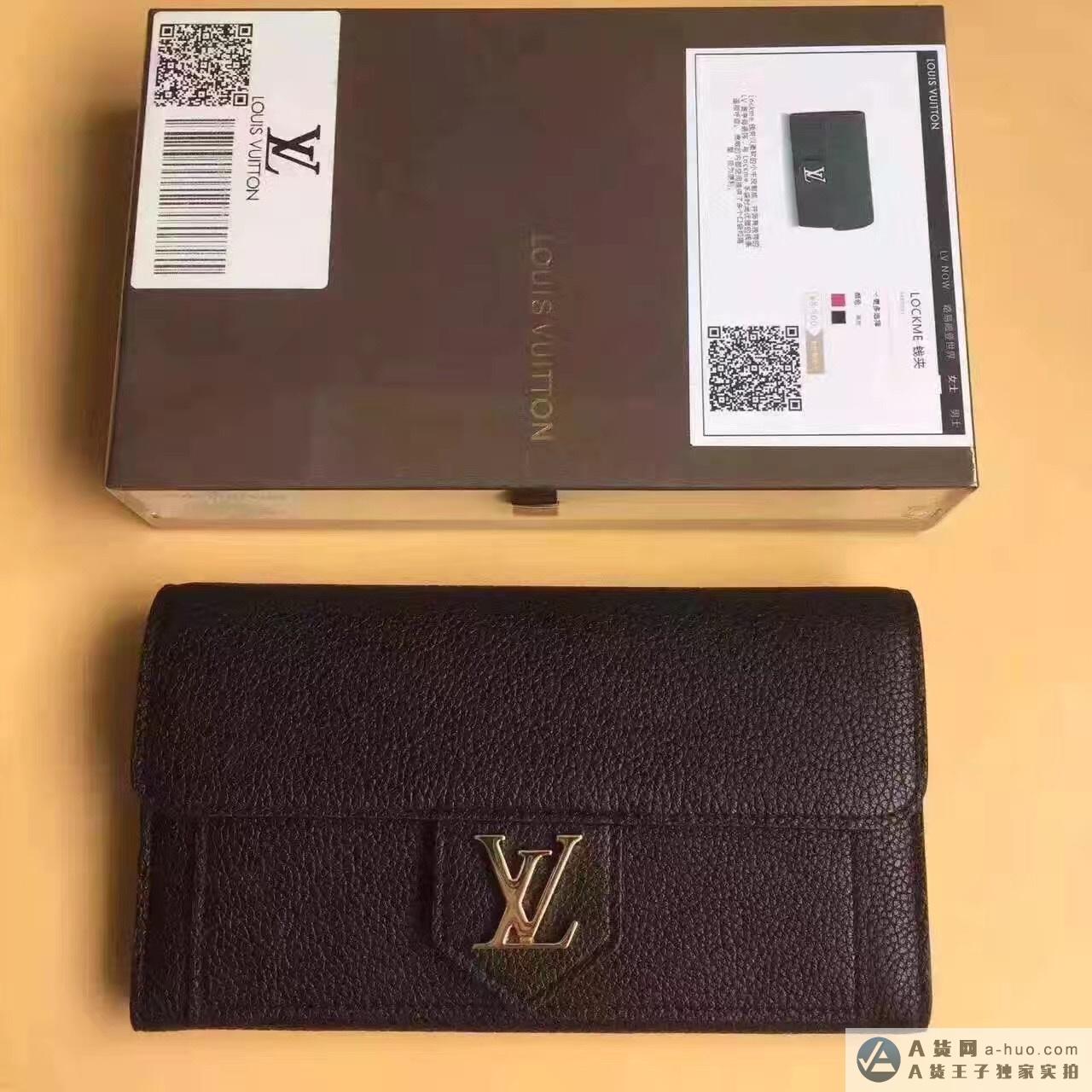 M60861女士lv原单小牛皮字母钱包